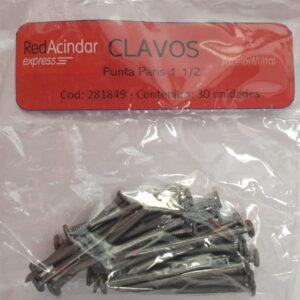CLAVOS ACINDAR X KG  DE 1 A 8 PULGADAS
