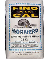 FINO A LA CAL X 25 KG  HORNERO